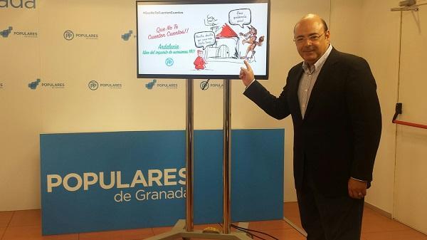 Sebastián Pérez, este jueves en la sede del PP.