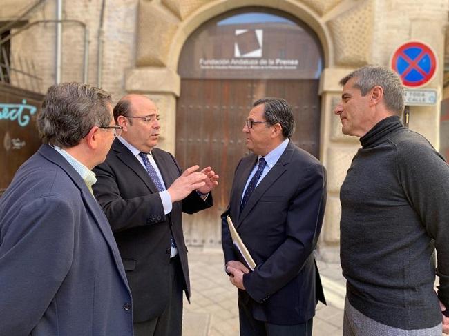 De derecha a izquierda, César Díaz, Carlos Ruiz Cosano, Sebastián Pérez y Luis González.