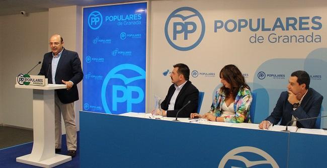 Sebastián Pérez durante su intervención en el Comité Ejecutivo Autonómico.