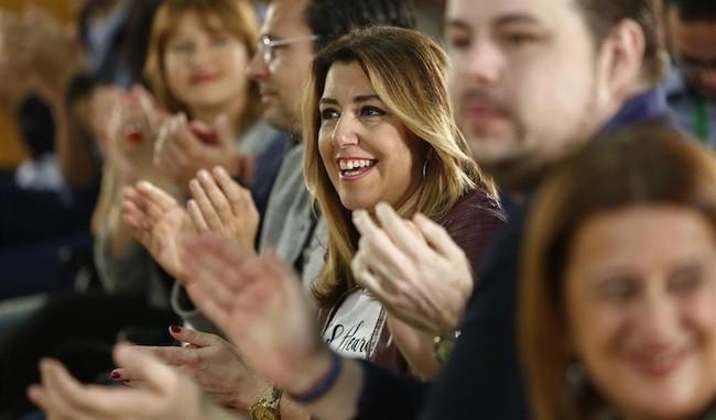 Susana Díaz, este domingo en Granada.
