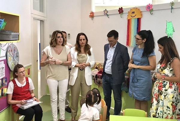 Susana Díaz, este viernes en Almería.