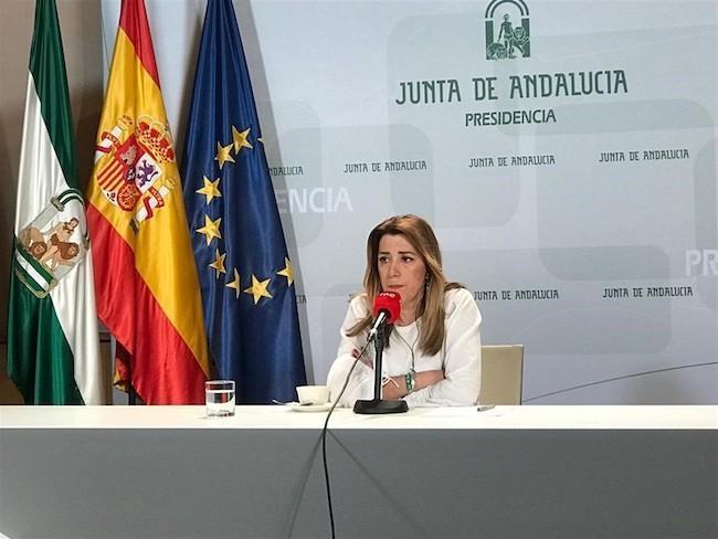 Susana Díaz, en una entrevista en RNE.