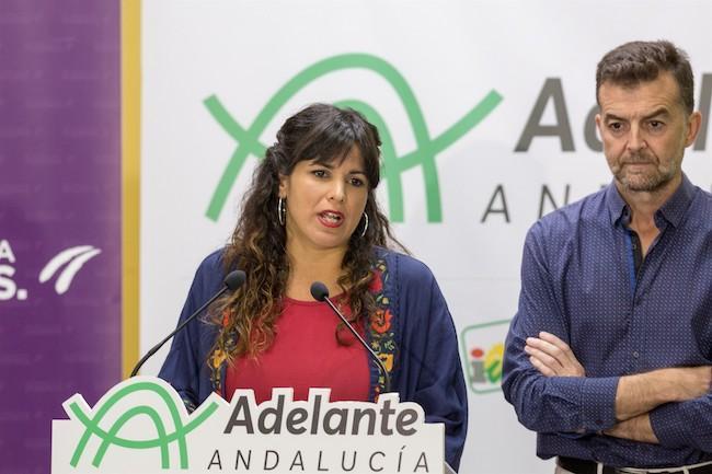 Teresa Rodríguez y Antonio Maíllo.