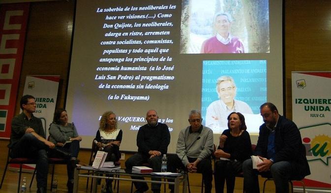 Un momento del homenaje a Pedro Vaquero.