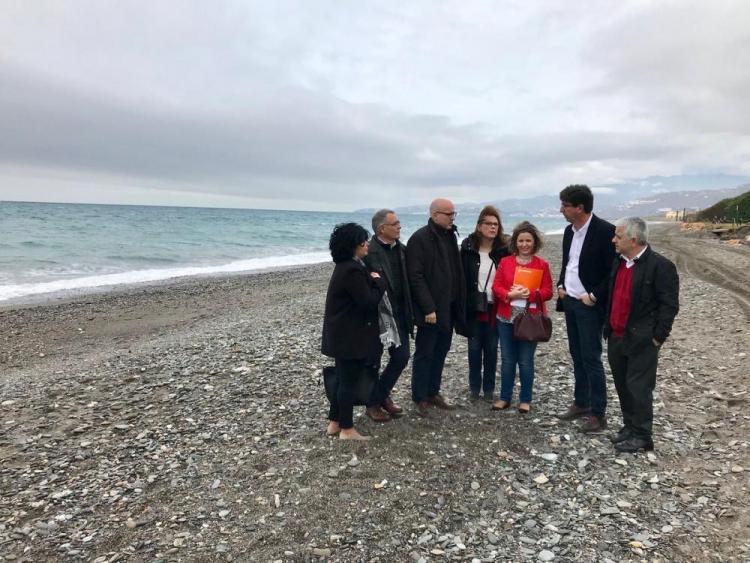 Juan Marín, líder de Ciudadanos en Andalucía, ha visitado este martes Motril.