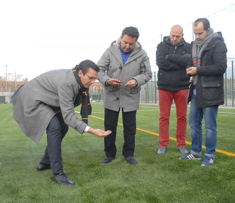 Cuenca, este martes en una visita al polideportivo de La Chana.