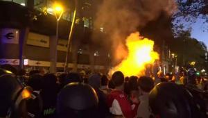 Imagen de disturbios en Barcelona, la semana pasada.