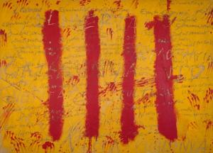 'L'esperit català' (1971), de Antoni Tàpies.