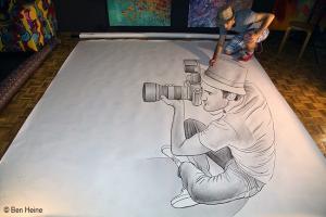 """De la serie 'Pencil vs Camera"""", de Ben Heine."""