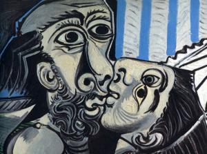 'El beso' (1969), Pablo Picasso.