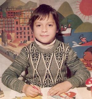 El autor, en una imagen de su infancia.
