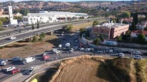 Vista aérea donde se produjo el pasado lunes la detención del presunto homicida del guardia civil José Manuel Arcos.