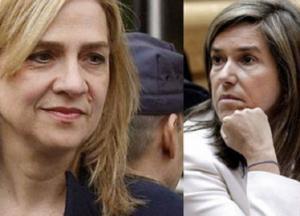 La Infanta Cristina y Ana Mato.
