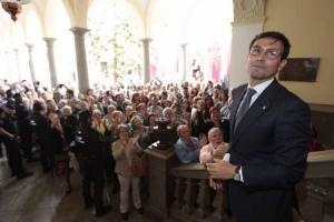 Cuenca, el día de la investidura como alcalde.