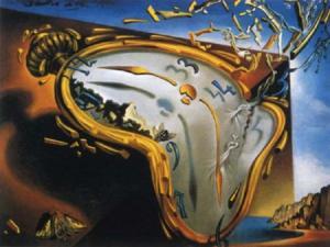 'Reloj blando en el momento de la primera explosión', de Salvador Dalí.