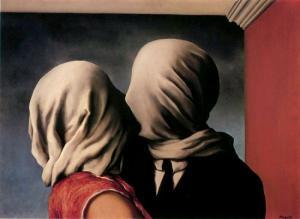 'Los amantes' (1928), de René Magritte.