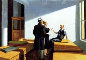 'Conversación nocturna' (1949), de Edward Hopper.