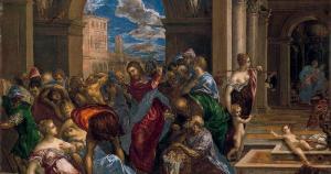 La expulsión de los mercaderes del templo, cuadro de El Greco.