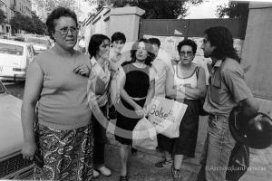La imagen recoge una acción en solidaridad con la trabajadora que había sido despedida.