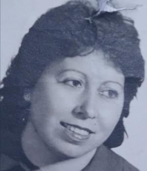 Nati Bullejos, en una imagen utilizada para la lista electoral municipal del PCE por Maracena, de 1983.