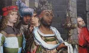 """""""Adoración de los reyes magos"""", obra de Jan Gossaert."""