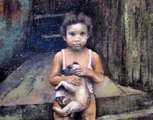 'Niña con perro' (2014), de Tomas Castaño.