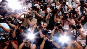 Paparazzis en acción.