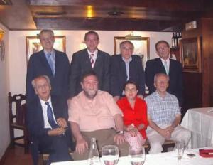 Pepe Vida, junto a los secretarios provinciales el PSOE de la democracia (faltan Teresa Jiménez y José Entrena).