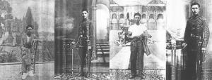 Los hermanos Miguel, Francisco, José Nieto Biezma y Juan Biezma Ruiz.