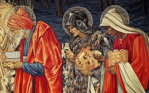 Detalle del tapiz de 'La adoración de los Magos' (1901), de Edward Burne-Jones y Morris and Co.