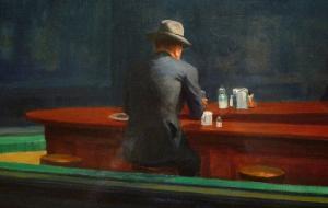 Detalle de 'Nighthawks' (1942) de Edward Hopper