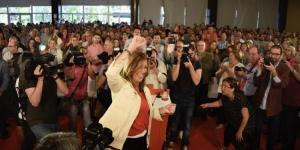 Susana Díaz, en un acto en Granada de su fallida campaña de las primarias del PSOE.