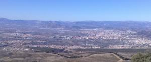 Vista de Granada y varios pueblos del extrarradio.