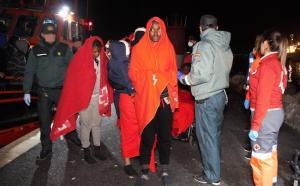 Algunos de los migrantes llegados a Almería.
