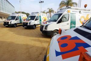 Ambulancias del 112.
