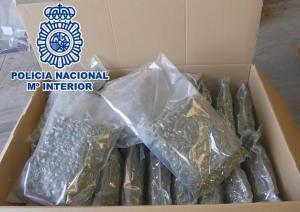 Algunas bolsas de marihuana intervenidas.
