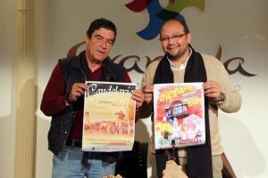 El juez Calatayud y el concejal de Turismo presentan la Fiesta del Vino.