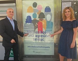 Uno de los carteles de la campaña, en La Caleta.
