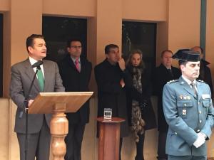 El coronel Manuel García Sánchez, a la derecha.
