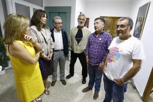 Reunión entre los representantes de la Abogacía con el Defensor y el párroco de La Paz.