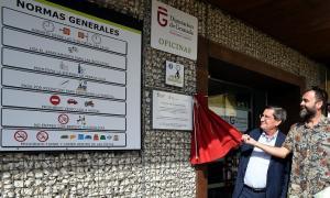 Inauguración de la nueva señalización del polideportivo.