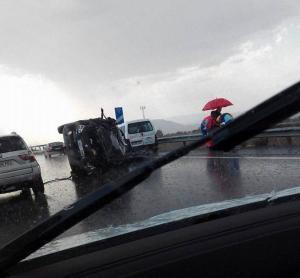 Imagen del vehículo siniestrado.