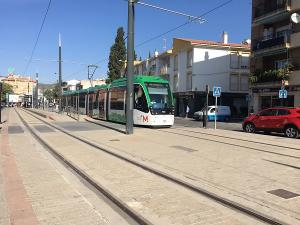 Parada del Metro en Albolote.