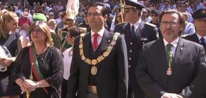 El alcalde y concejales del PSOE, en la procesión.