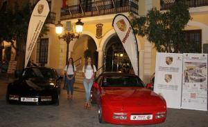 Presentación de la concentración de vehículos Porsche.