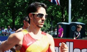 Alberto Amezcua, durante la prueba en Londres.