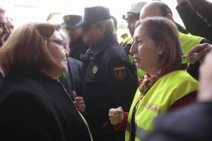 Ana Pastor durante su visita a Granada, en 2016, para supervisar las obras del AVE.