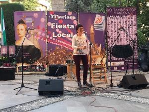 Ángeles Mora recitó unos poemas dedicados a Mariana Pineda.