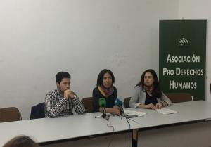 J.A Imbernón, Natalia García y Myriam Jurado, en la rueda de prensa de este miércoles.