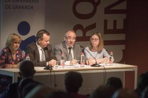 Un momento del acto organizado por el Colegio de Enfermería de Granada.
